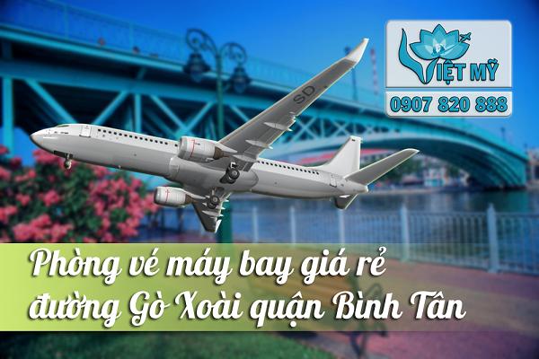 Phòng vé máy bay đường Gò Xoài quận Bình Tân
