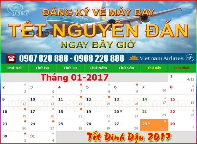 Lịch vạn niên tết âm lịch 2017