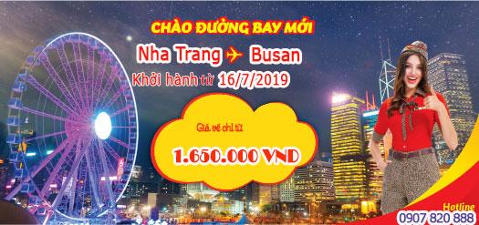 Vietjet mở chặng bay mới từ Nha Trang đi Busan