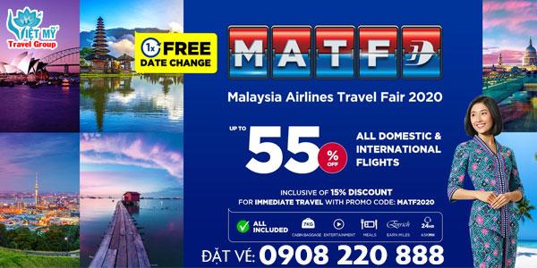 Malaysia Airlines khuyến mãi giảm 50% giá vé