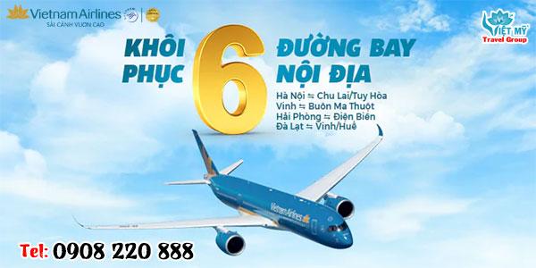Vietnam Airlines khai thác trở lại 06 đường bay nội địa