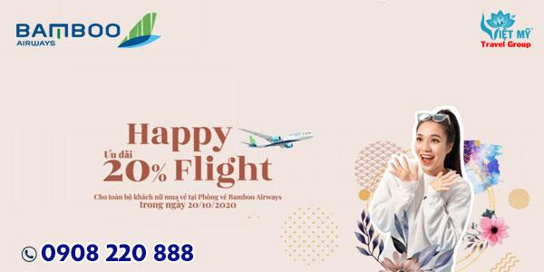 Bamboo Airways khuyến mãi nhân ngày 20/10